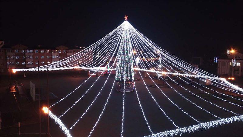 Главная елка Лидчины борется за звание самой красивой в области