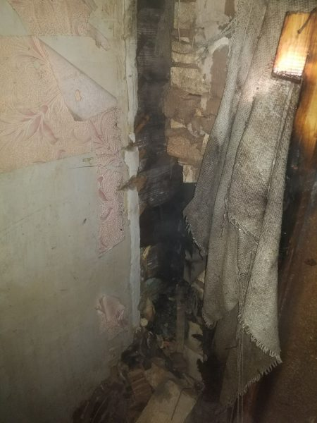 Пожар произошел вчера вечером в Березовке