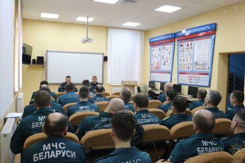 Начальник областного управления МЧС встретился с личным составом Лидского РОЧС