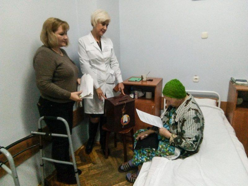 Голосуют сегодня и те, кто находится на стационарном лечении в медучреждениях