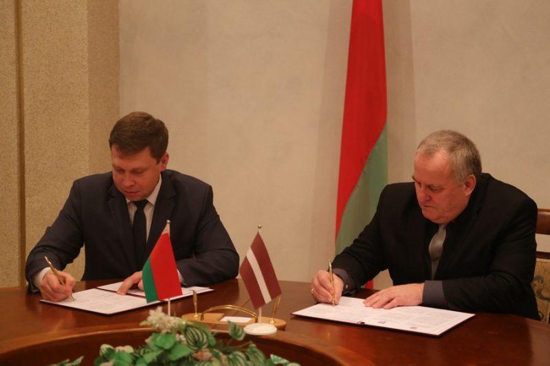 Подписан договор о сотрудничестве между Лидой и латышским городом Ливаны