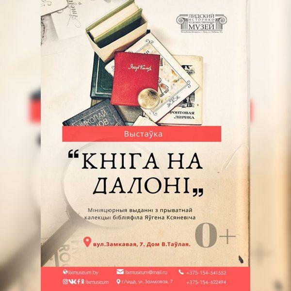 Выставка миниатюрных изданий из частной коллекции Евгения Ксеневича «Кніга на далоні» работает в Лиде