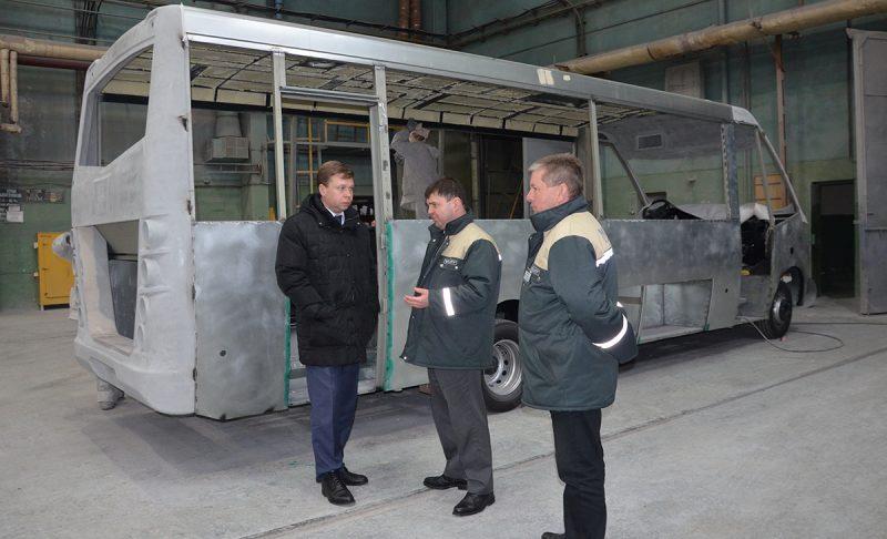 Председатель Лидского райисполкома Сергей Ложечник посетил автосборочное производство «Неман»