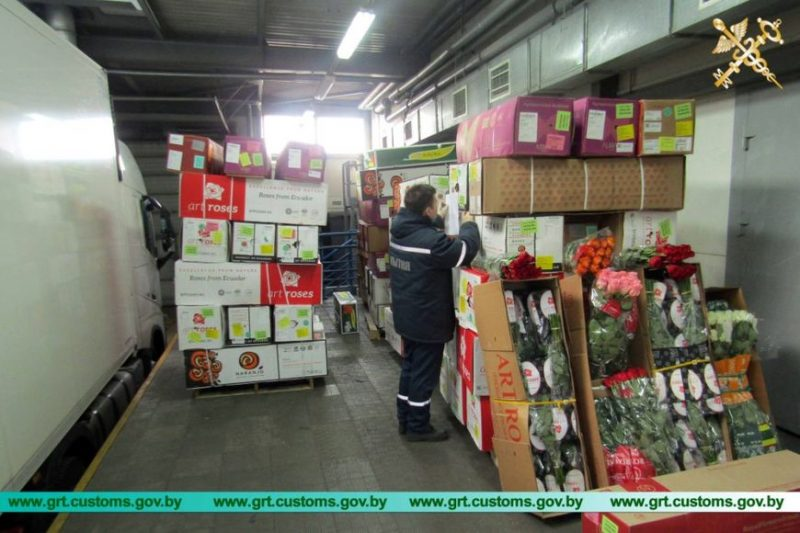 Таможенники пресекли незаконный ввоз 100 тысяч роз