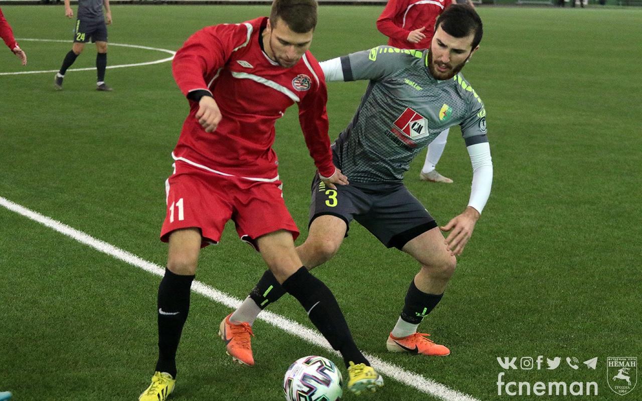Футбольный клуб «Лида» провел очередной товарищеский матч в нынешнем межсезонье