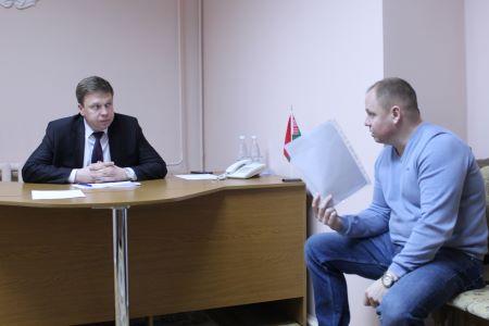 Председатель Лидского райисполкома Сергей Ложечник провел прием граждан