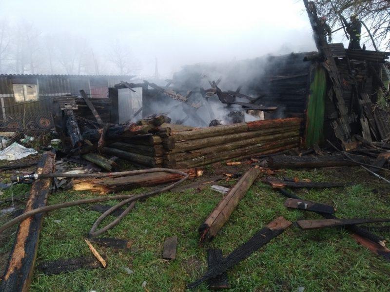 Мужчина погиб при пожаре в Лидском районе