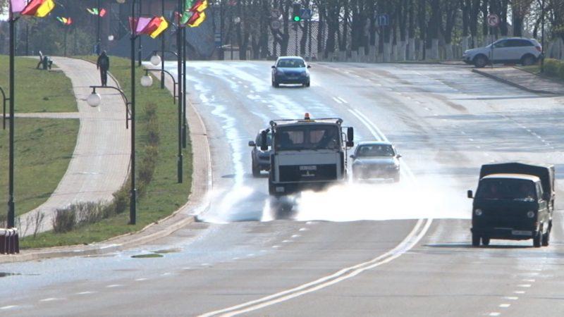 В Лиде дезинфицируются улицы и тротуары