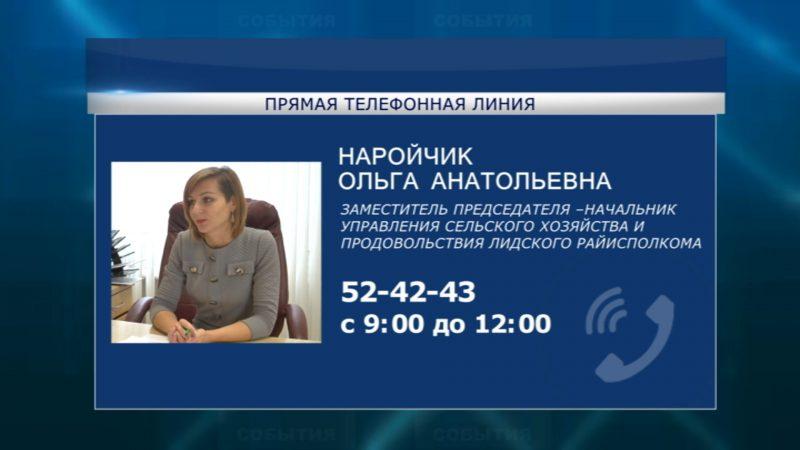 Очередная «прямая телефонная линия» пройдет в предстоящую субботу, 16 мая, в Лидском райисполкоме