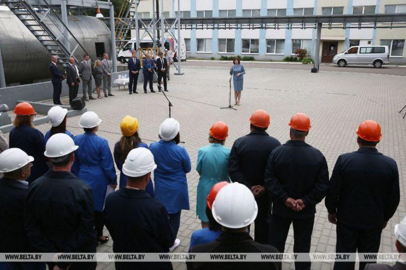 Председатель Совета Республики Национального собрания Наталья Кочанова вчера посетила «Лакокраску»
