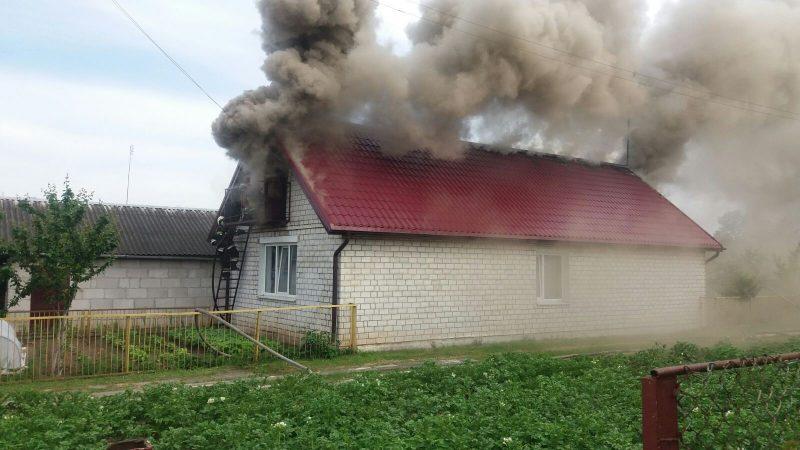 Жилой дом горел накануне в Лиде по проспекту Победы