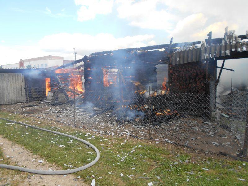 В Лидском районе сгорела пилорама