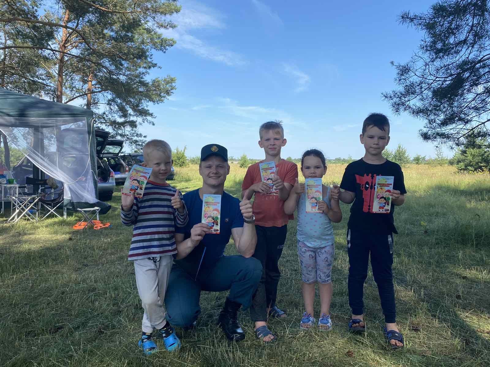 Лидские спасатели в очередной обращают внимание на обеспечение безопасности детей