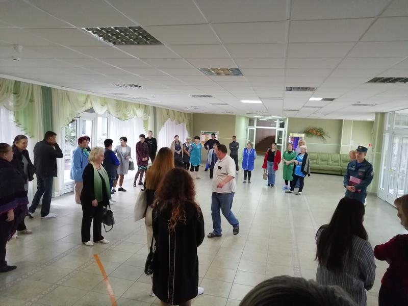 Во Дворце культуры прошла отработка практических действий по обеспечению эвакуации посетителей и работников