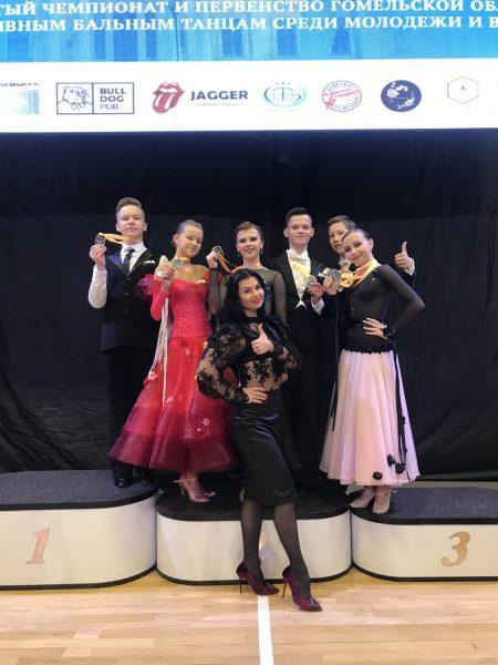 Лидчане выступили на турнире по спортивным бальным танцам, который состоялся в Гомеле