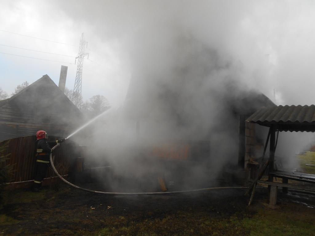 Баня горела в Лидском районе