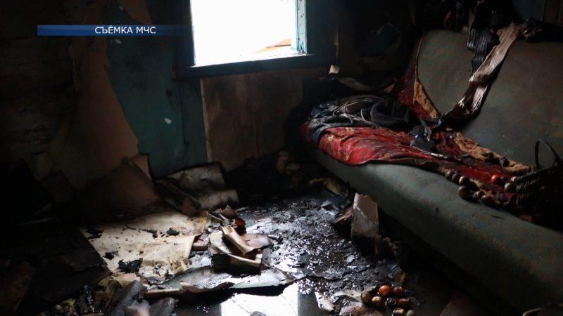 Огонь унес жизнь человека в Лидском районе