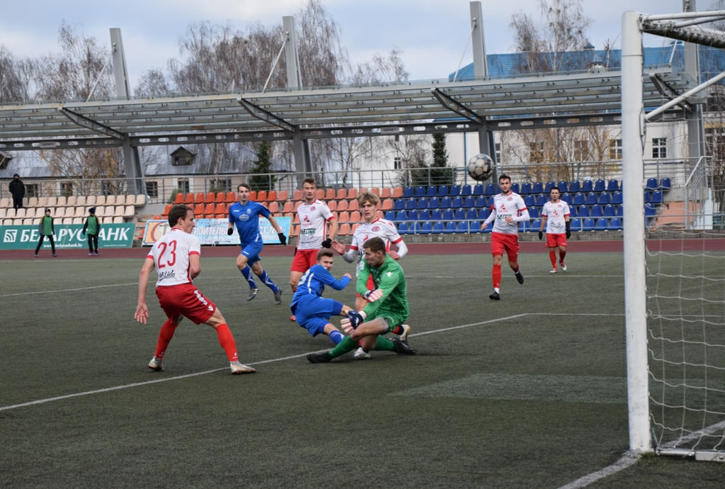 Футбольный клуб «Лида» в заключительном матче чемпионата страны в первой лиге сыграл вничью
