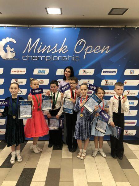 Лидчане успешно выступили на международных соревнованиях по спортивным бальным танцам «Minsk Open Championship»