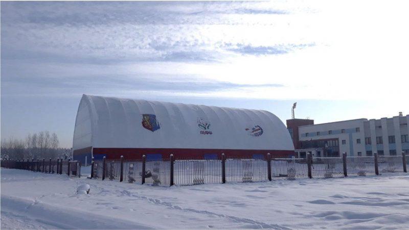 В Лиде завершается строительство крытой мини-футбольной площадки по улице Качана