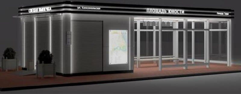 В центральной части Лиды остановочные торговые павильоны будут современными