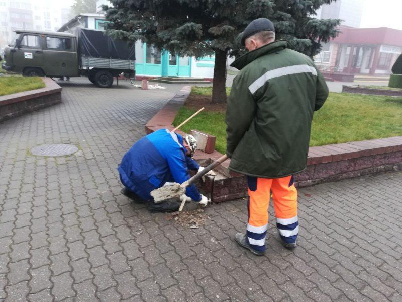 Коммунальные службы приступили к уборке и наведению порядка на улицах Лиды