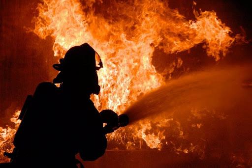 В Лидском районе горела частная баня
