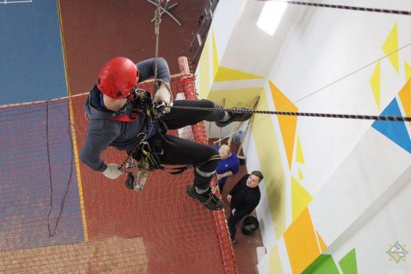В Гродно состоялись областные соревнования по промышленному альпинизму