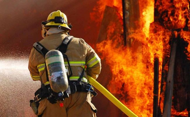 Жилой дом горел в Лиде
