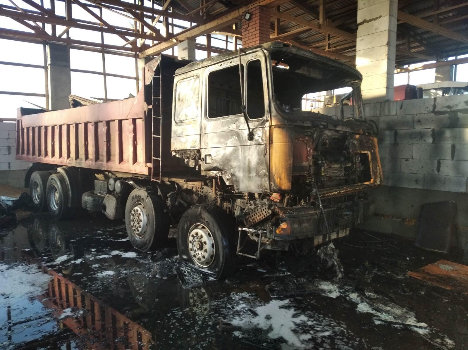 Грузовой автомобиль МАN горел в Лидском районе