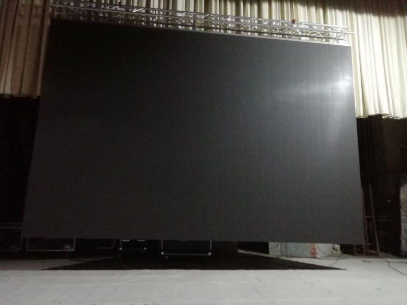 У Дворца культуры Лиды теперь свой современный светодиодный экран