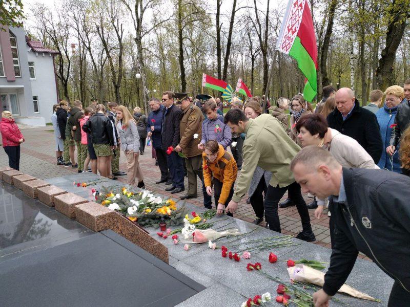 В Лидском районе прошёл автопробег по местам, связанным с событиями Великой Отечественной войны