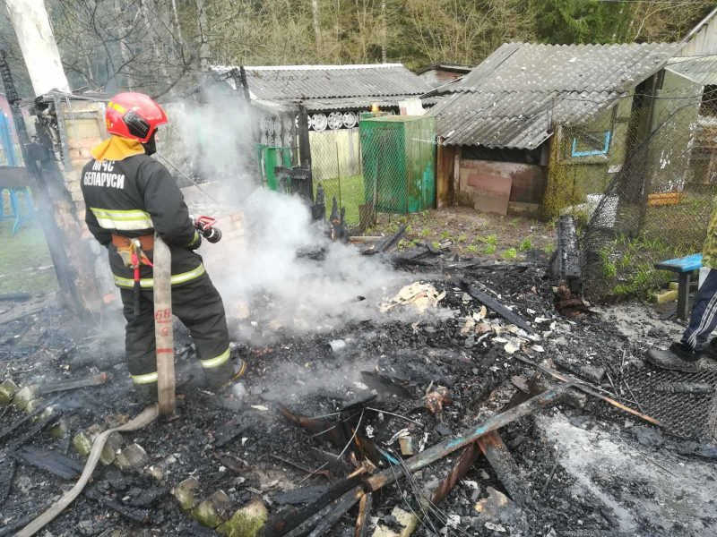 Два пожара произошли вчера в Лидском районе