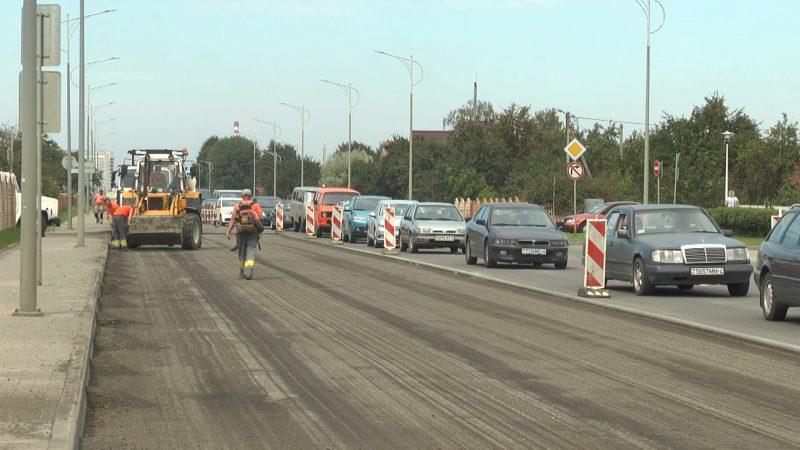 На участке проспекта Победы обновили асфальтобетонное покрытие
