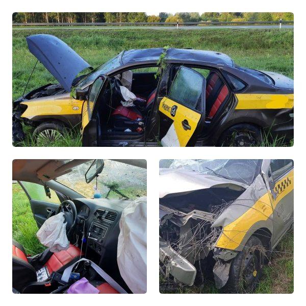 Два человека пострадали в столкновении такси и грузовика под Лидой