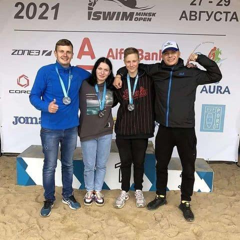 Лидчане успешно выступили на соревнованиях по плаванию на открытой воде