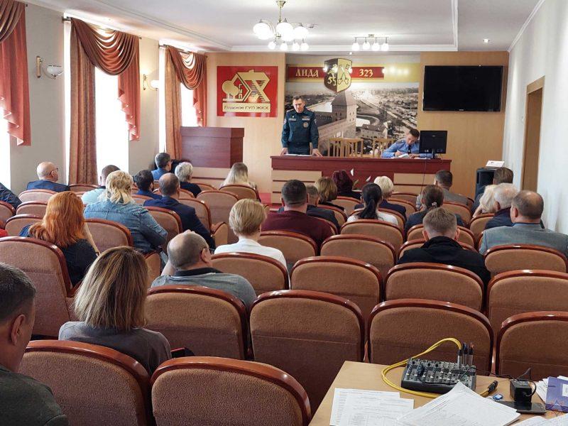 Начальник РОЧС провел профилактическую беседу с работниками ЖКХ