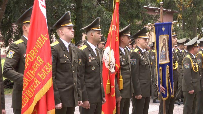Военнослужащие 116-й штурмовой авиабазы, которая базируется в Лиде, отметили 80-летие части